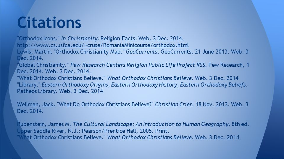 Citations Orthodox Icons. In Christianity. Religion Facts.