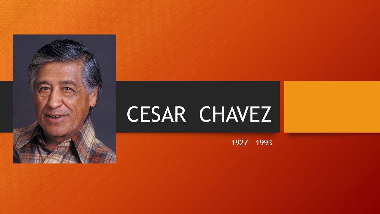 CESAR CHAVEZ 1927 - 1993