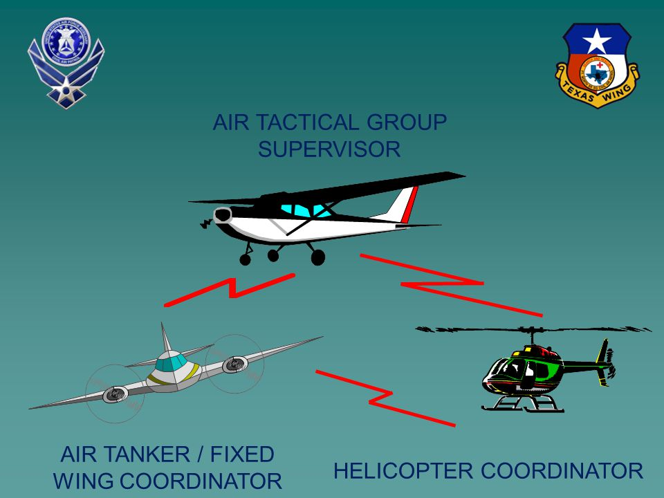 AIR TACTICAL GROUP SUPERVISOR HELICOPTER COORDINATOR AIR TANKER / FIXED WING COORDINATOR