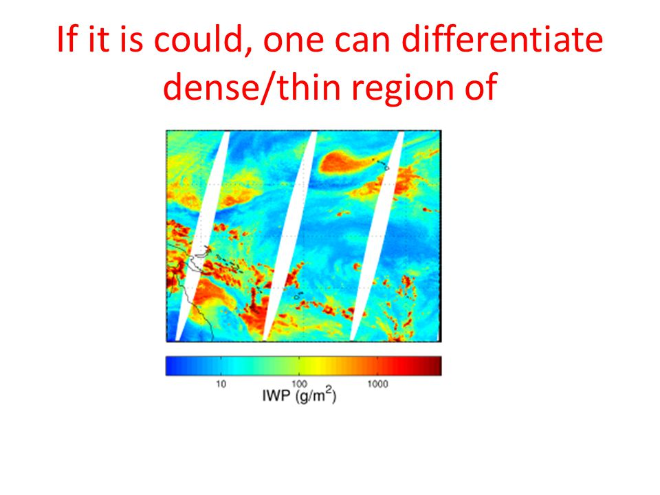 If it is could, one can differentiate dense/thin region of