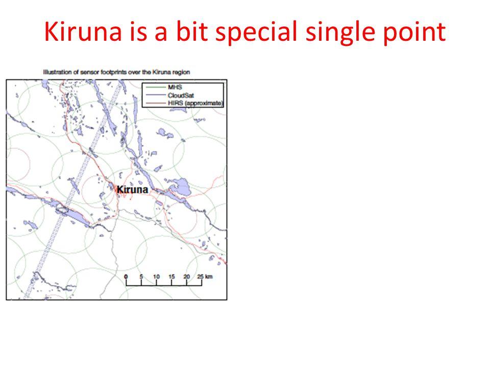 Kiruna is a bit special single point