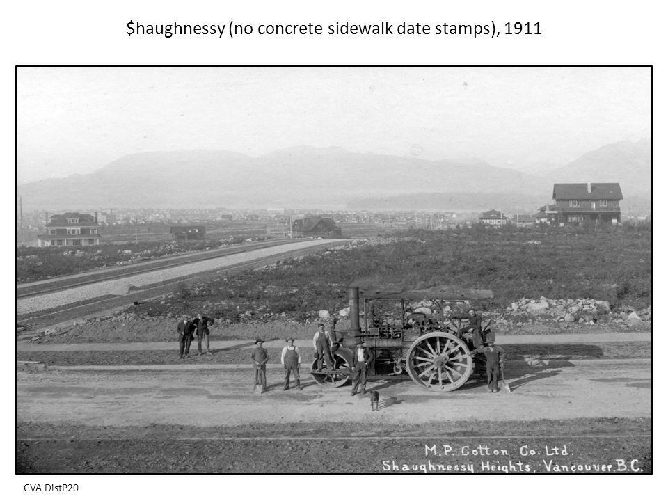 $haughnessy (no concrete sidewalk date stamps), 1911 CVA DistP20