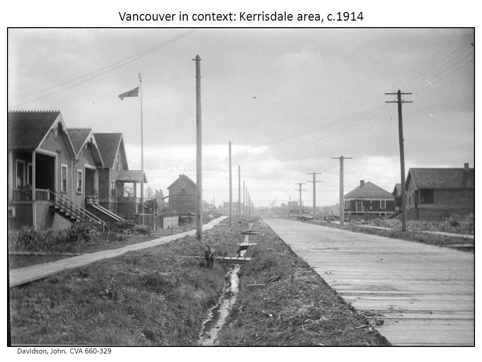 Vancouver in context: Kerrisdale area, c.1914 Davidson, John. CVA 660-329