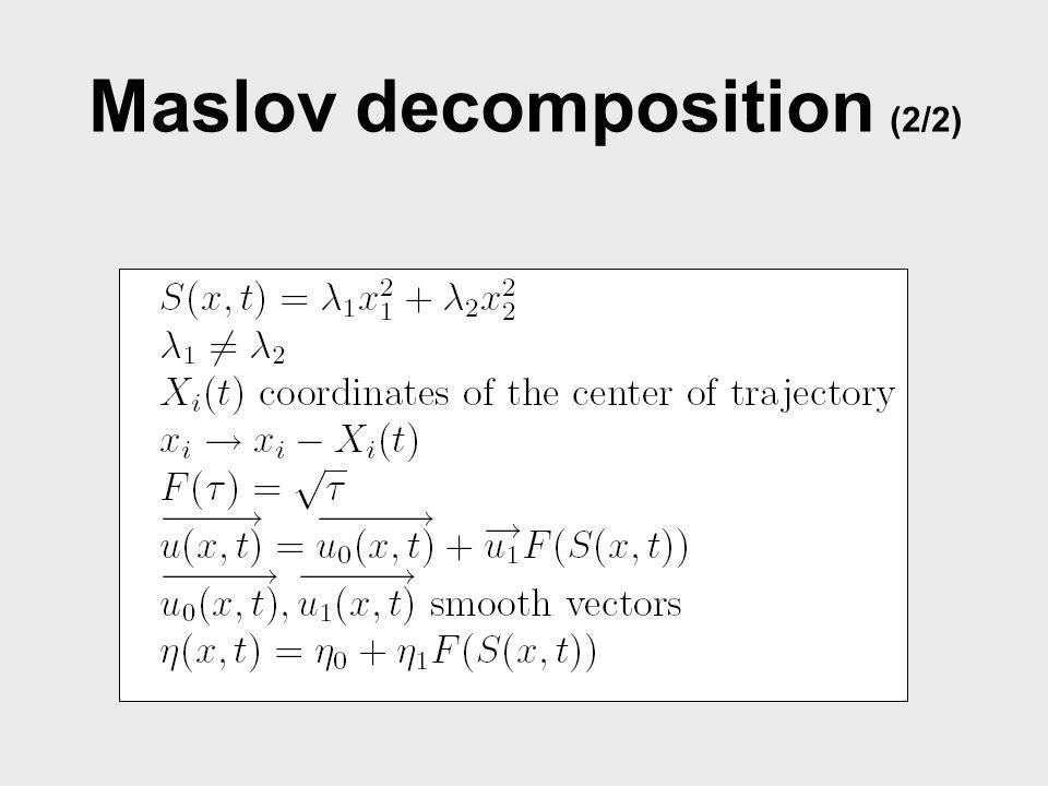 Maslov decomposition (2/2)