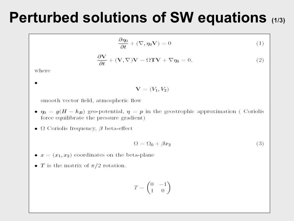 Perturbed solutions of SW equations (1/3)