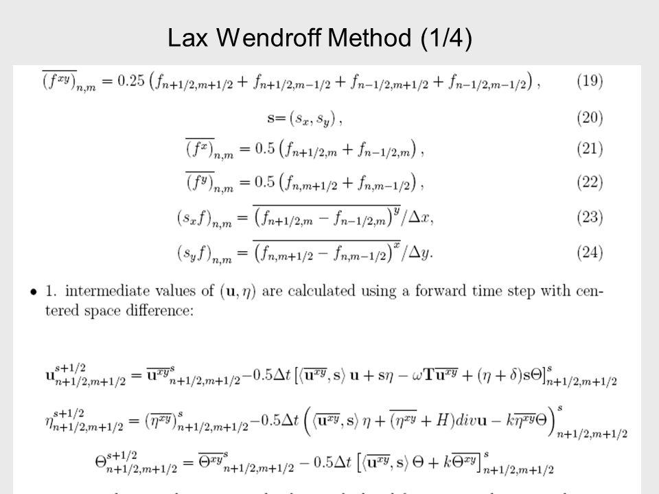 Lax Wendroff method (2/4)