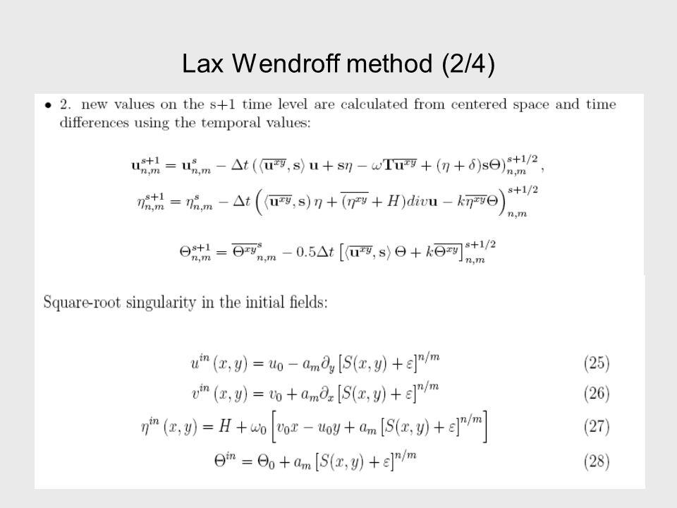 Lax Wendroff method (3/4)