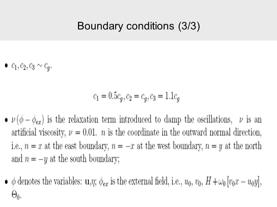 Boundary conditions (3/3)