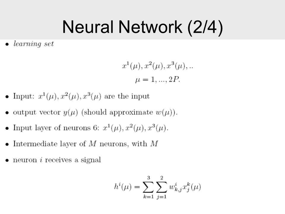 Neural Network (2/4)