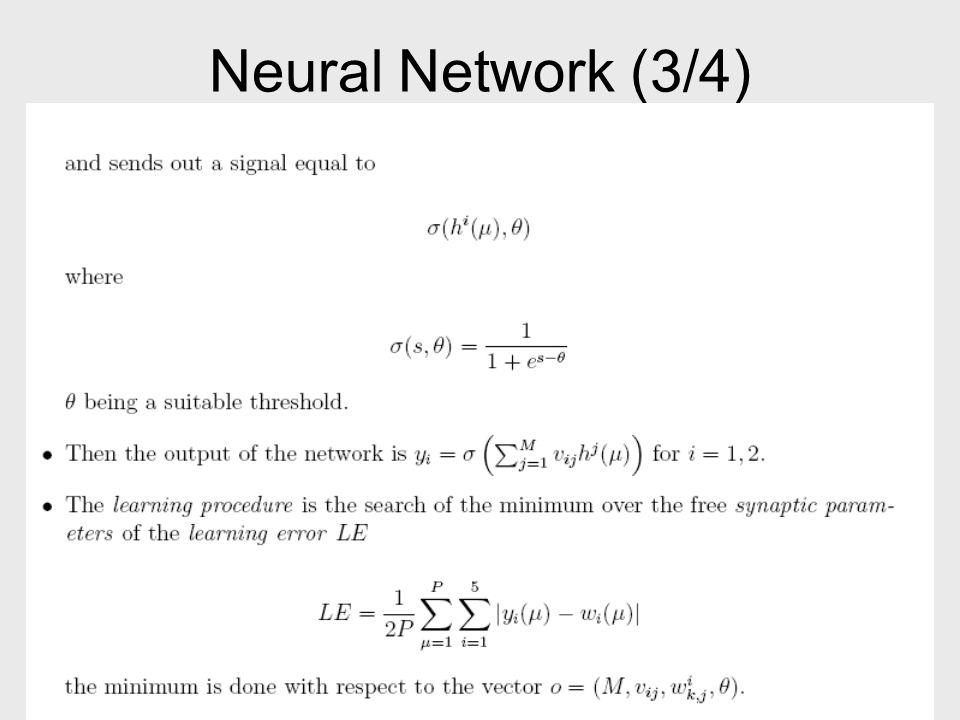 Neural Network (4/4)