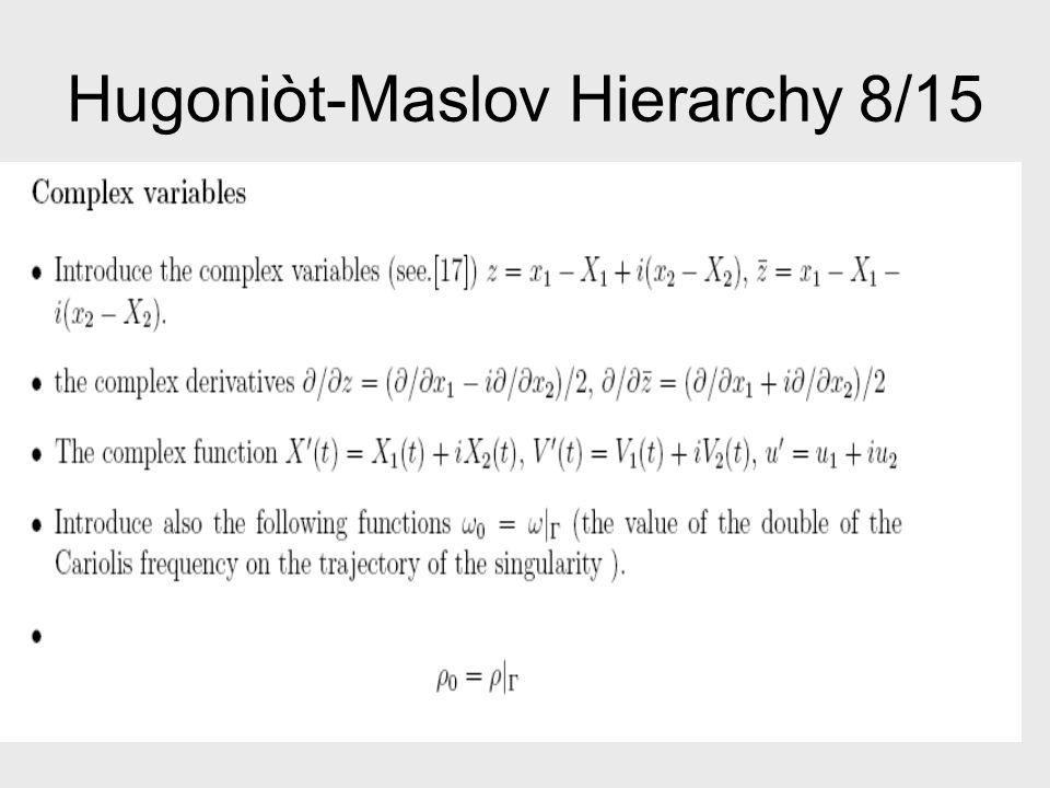 Hugoniòt-Maslov Hierarchy 8/15