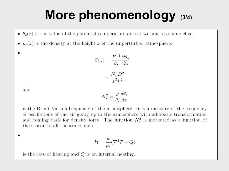 More phenomenology (4/4)