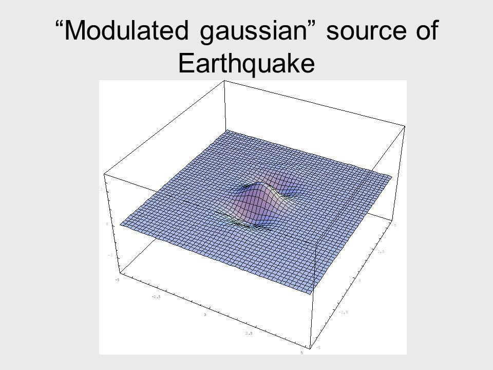 Modulated gaussian source of Earthquake
