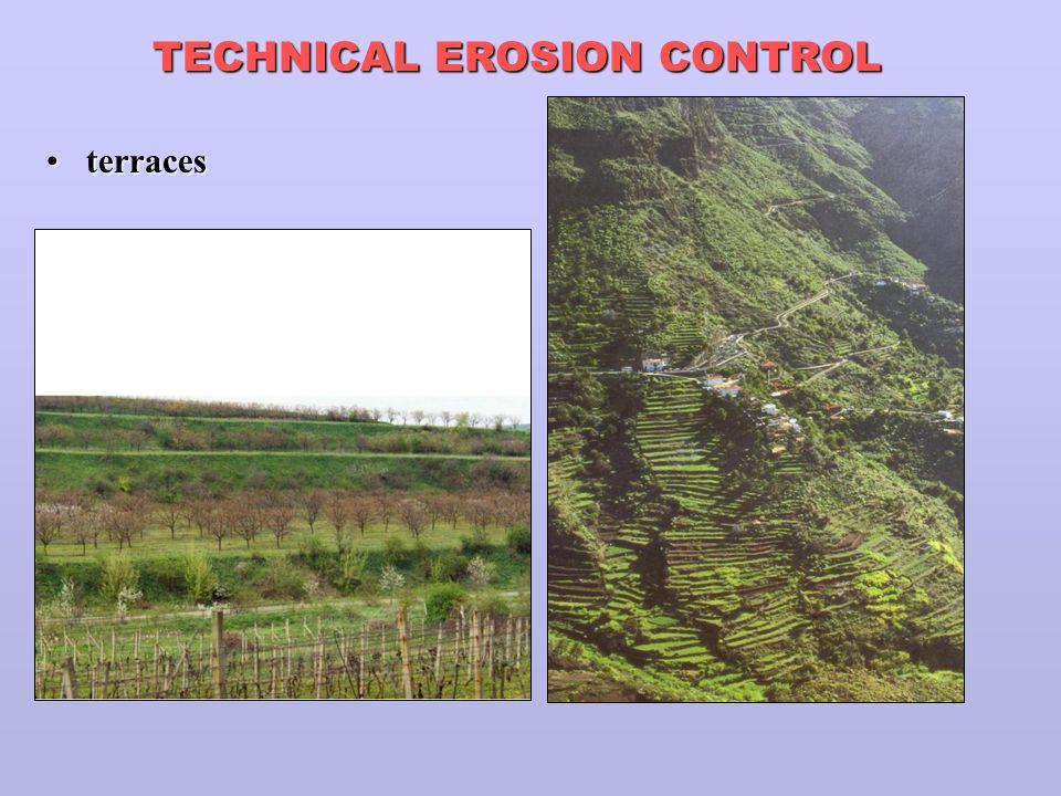 terracesterraces TECHNICAL EROSION CONTROL