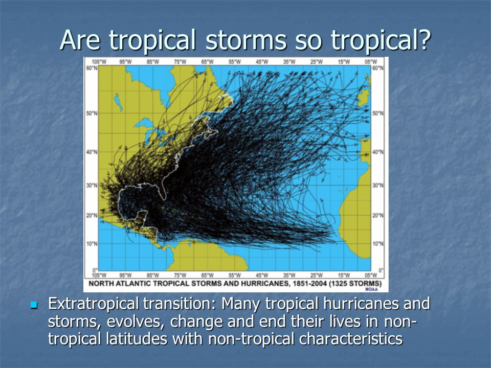 Are tropical storms so tropical.