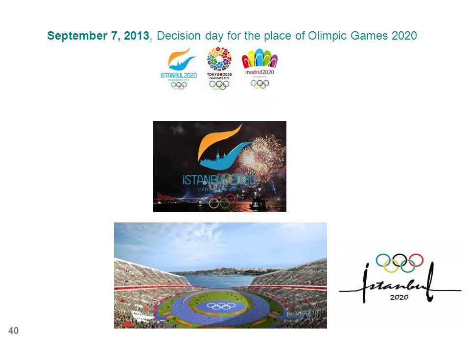 40 September 7, 2013, Decision day for the place of Olimpic Games 2020