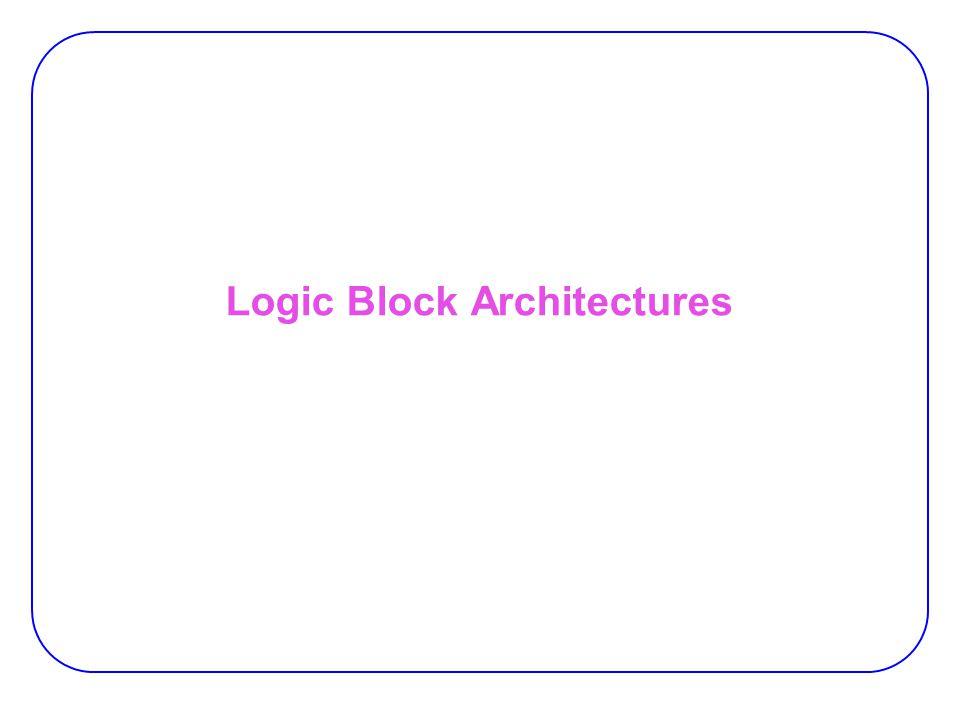 Logic Block Architectures