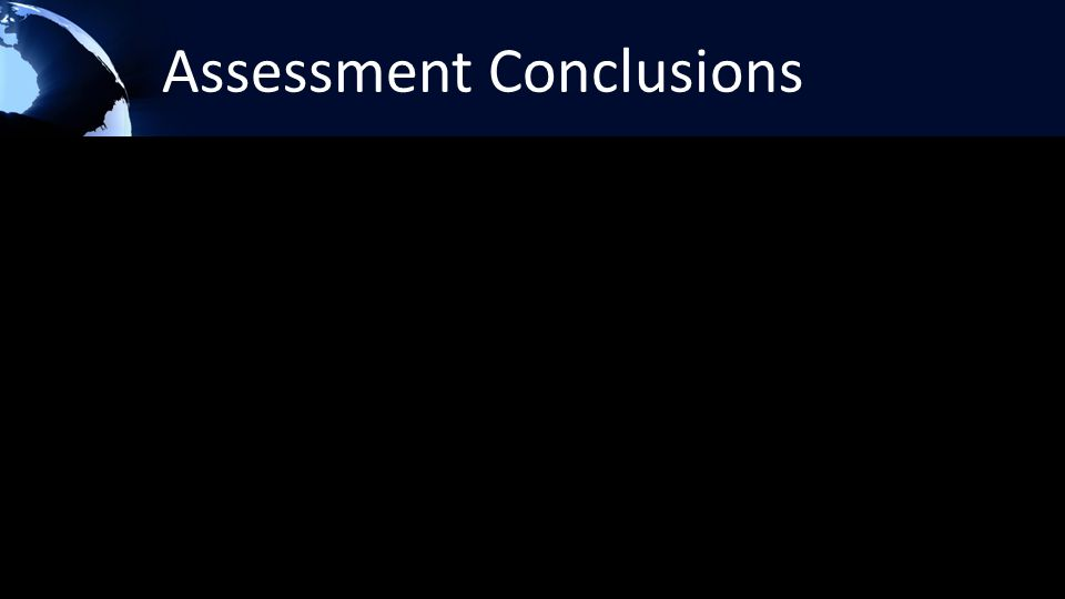 Assessment Conclusions