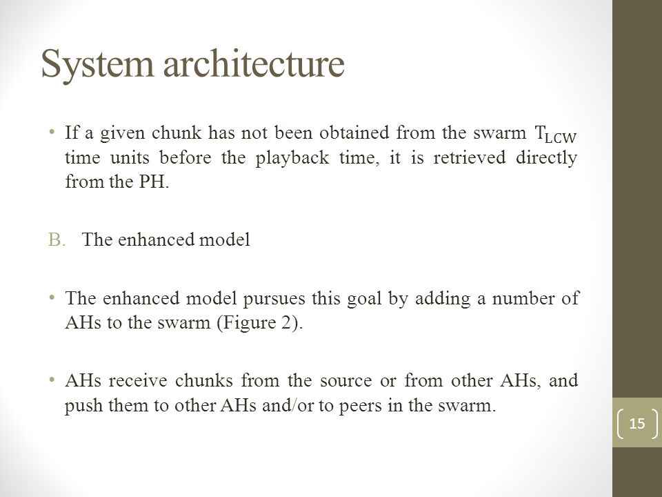 System architecture 15