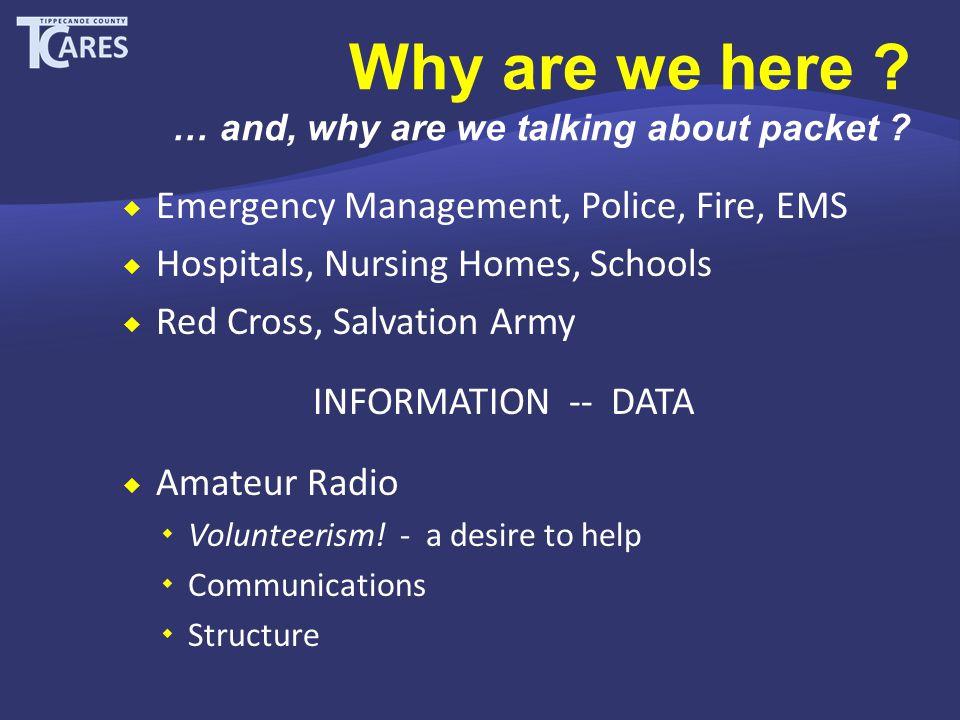 Why use Packet Radio .