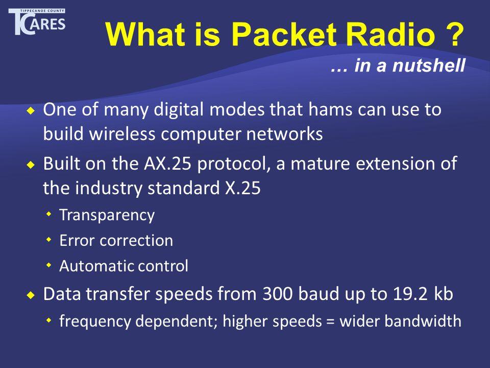 Why use Packet Radio ? … interoperability