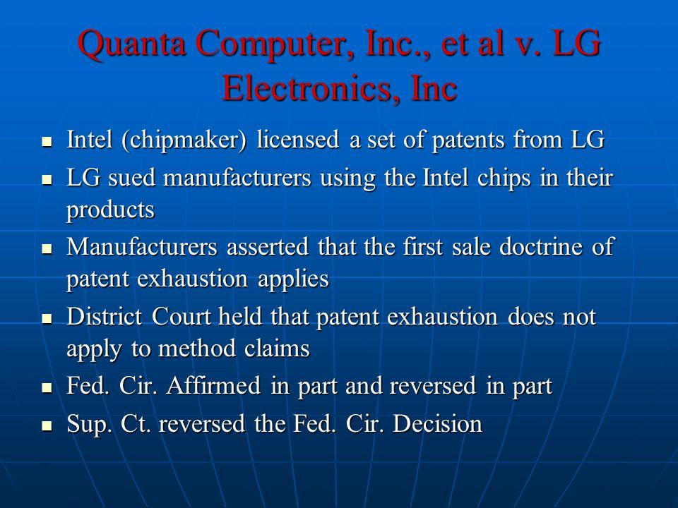 Quanta Computer, Inc., et al v.