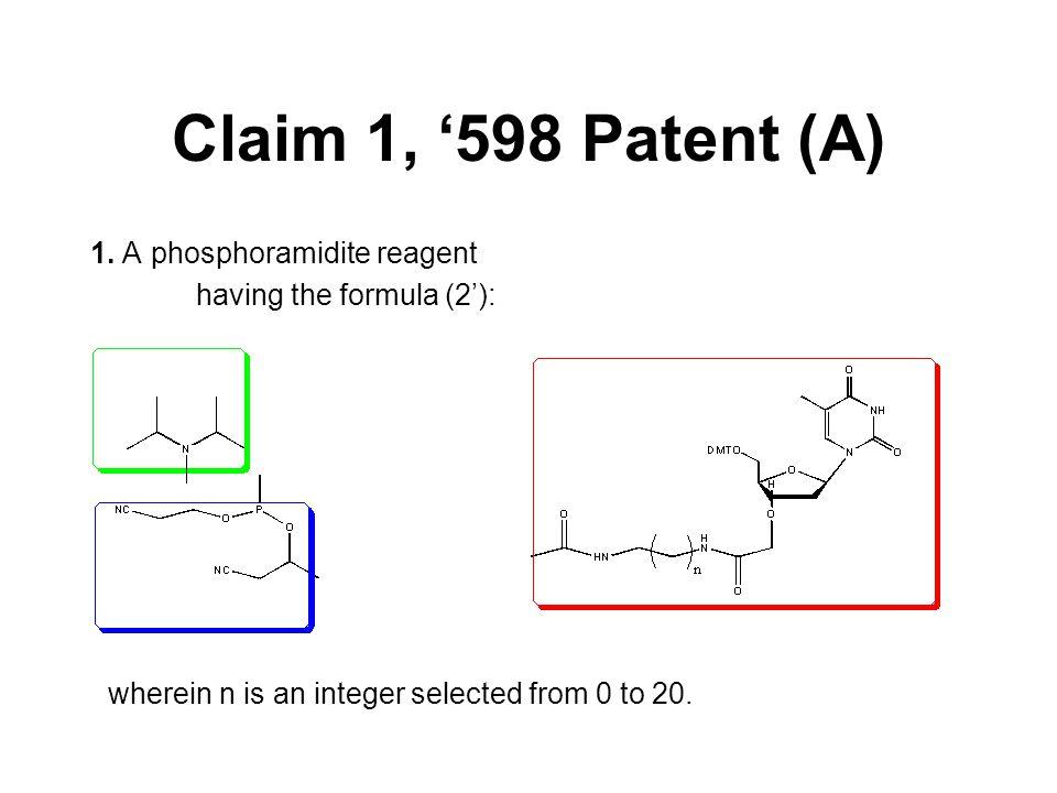 Claim 1, '598 Patent (A) 1.