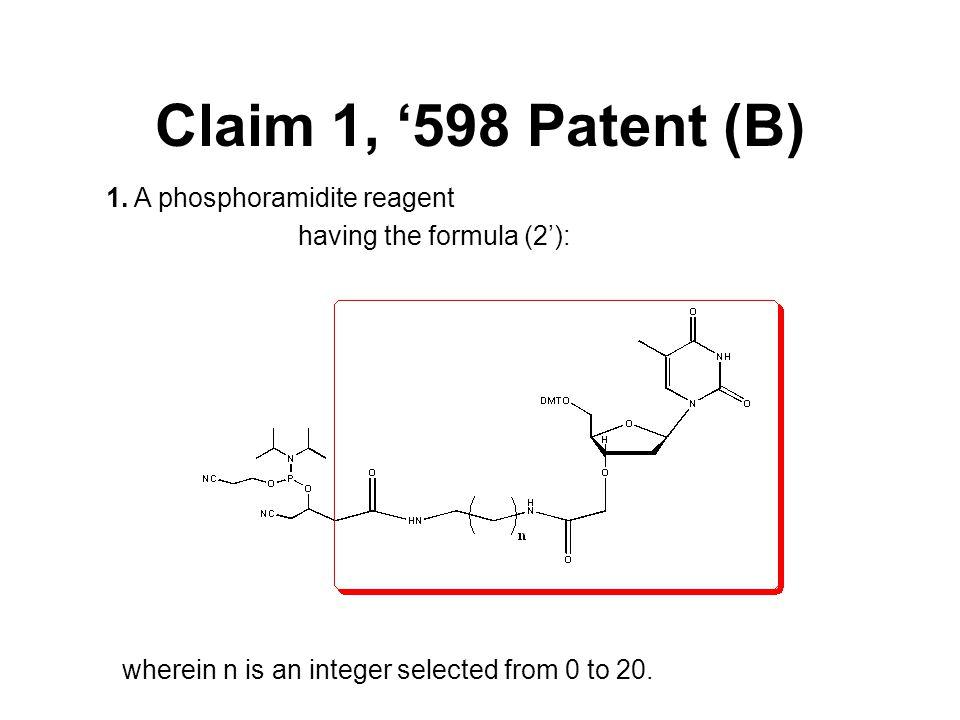 Claim 1, '598 Patent (B) 1.