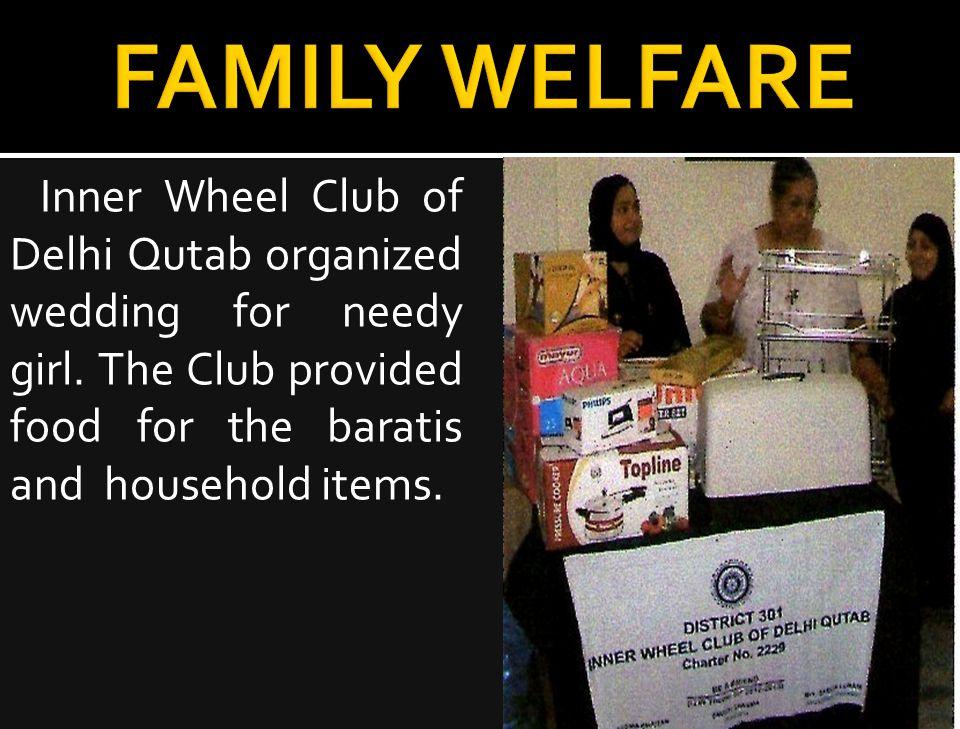 Inner Wheel Club of Delhi Qutab organized wedding for needy girl.