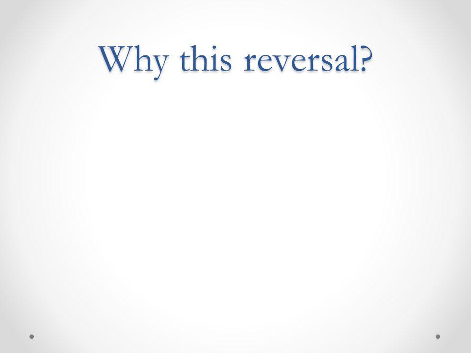 Why this reversal?