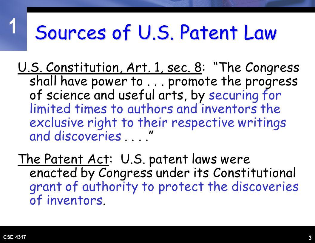 1 CSE 4317 4 Sources of U.S.