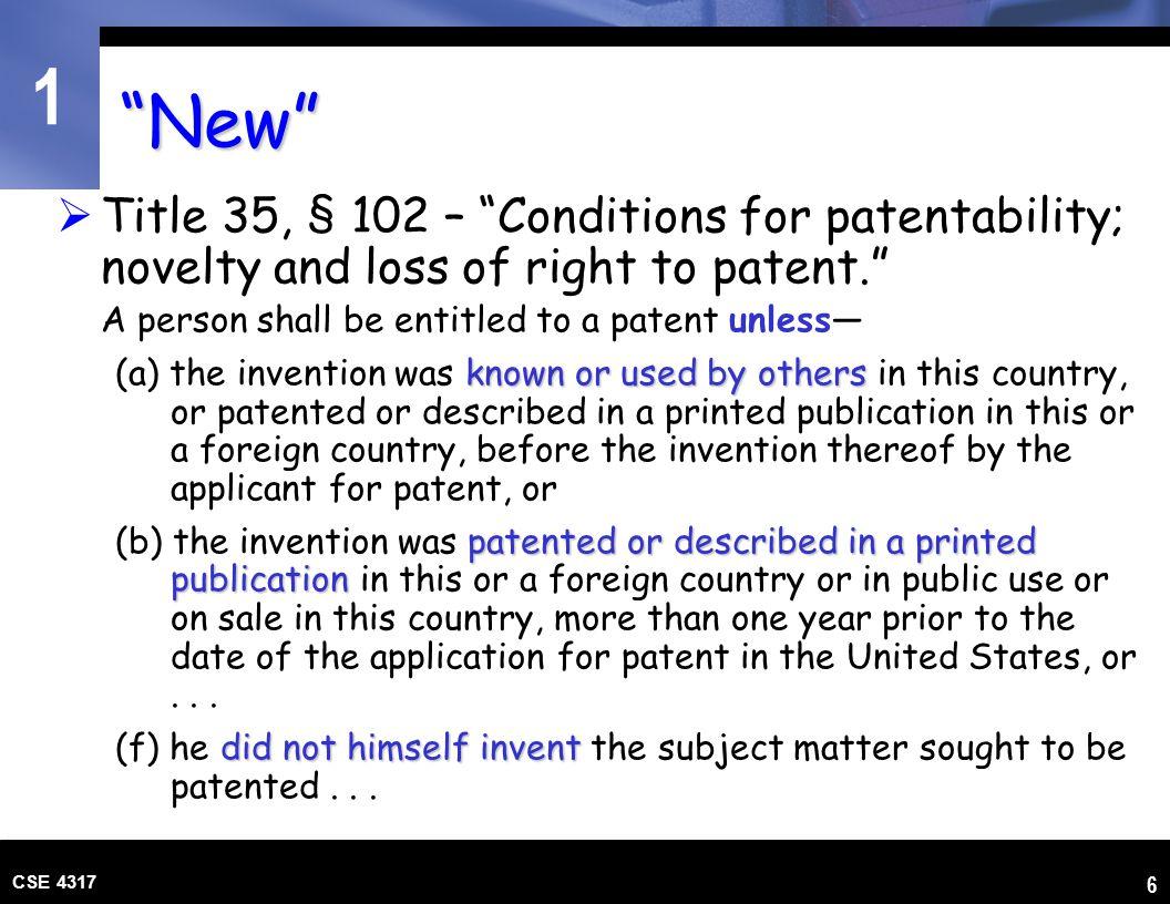 1 CSE 4317 17 Patent Litigation Invalidity Findings