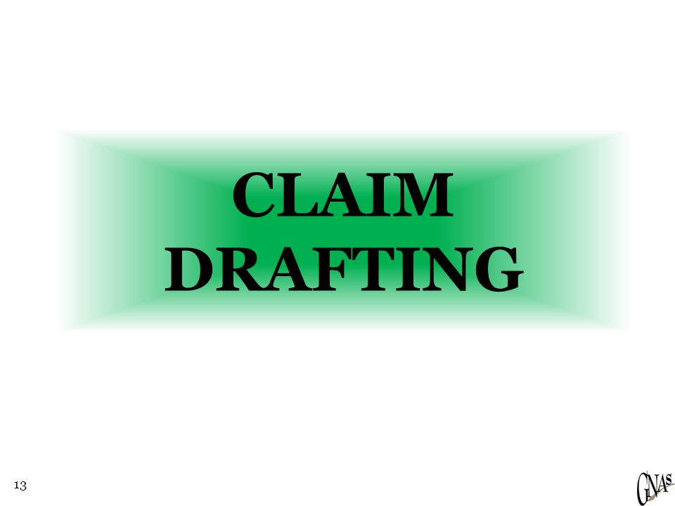 13 CLAIM DRAFTING