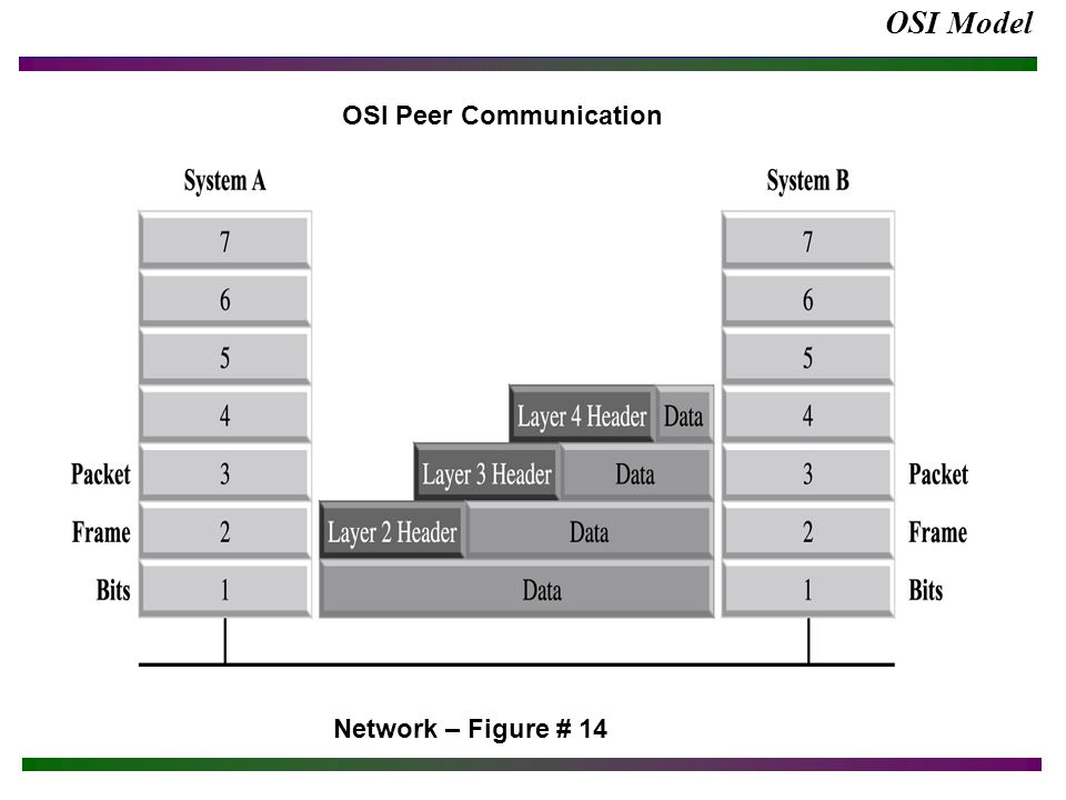 OSI Model Network – Figure # 14 OSI Peer Communication