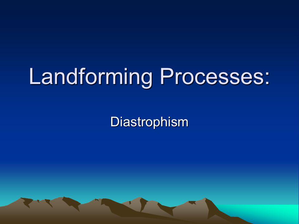 Landforming Processes: Diastrophism
