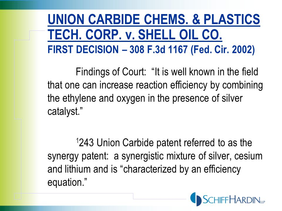 PROBLEM: UNLIKE EOLAS AND AT&T, THE CATALYST IN SHELL WAS NOT A PATENTABLE COMPONENT BUT A VERY OLD SILVER CATALYST NOW USED IN A NEW AND IMPROVED PROCESS THAT WAS PATENTABLE It does not appear that the silver catalyst was especially made or especially adapted for use in the invention. It does appear as if it is a staple article or commodity of commerce suitable for substantial noninfringing use, such as use of Shell's process prior to its infringing use.
