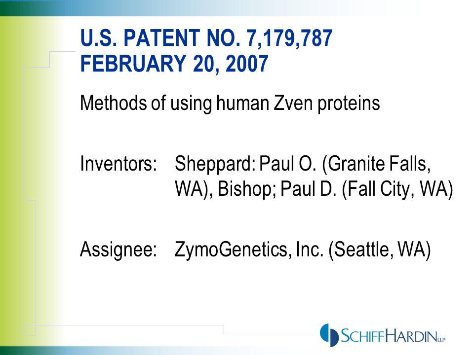 U.S. PATENT NO. 7,188,032 MARCH 6, 2007 Incremental determination of Teiresias patterns.