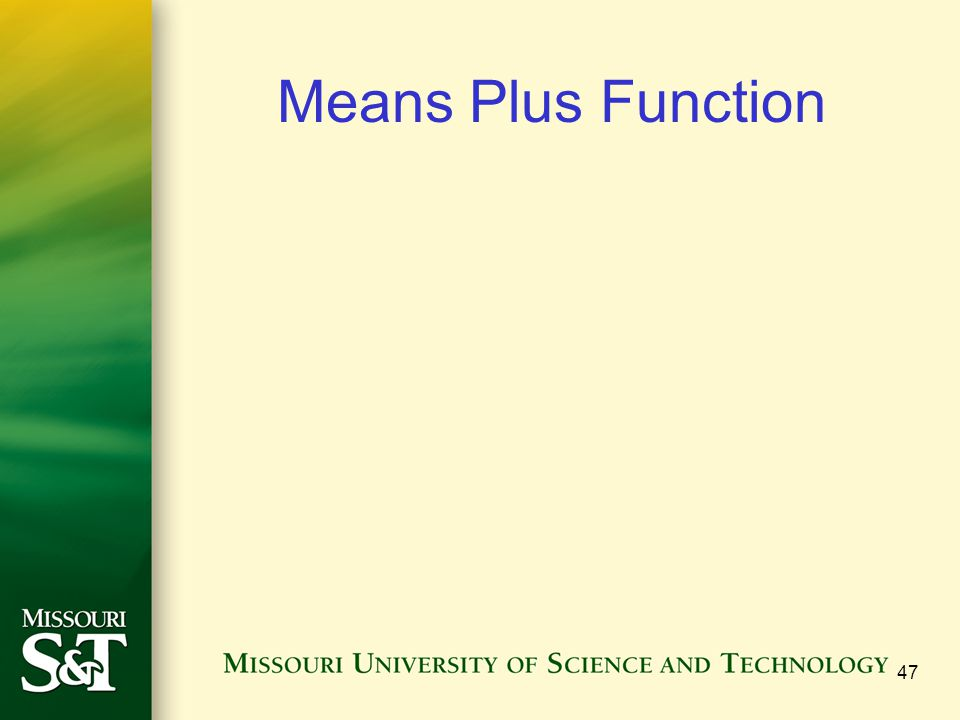 Means Plus Function 47