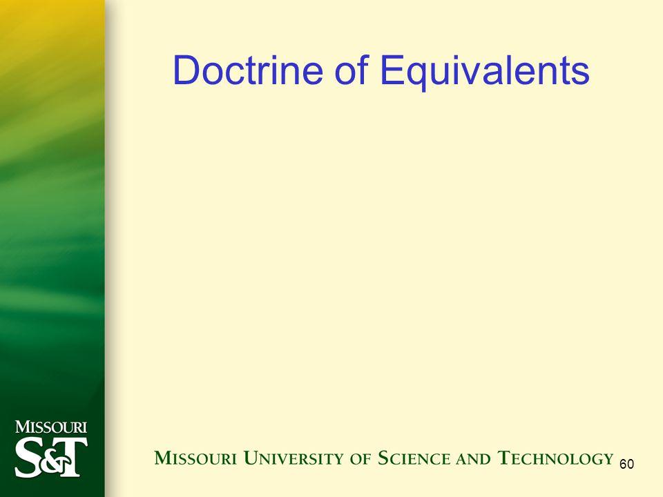 Doctrine of Equivalents 60