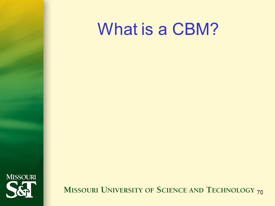 What is a CBM 70