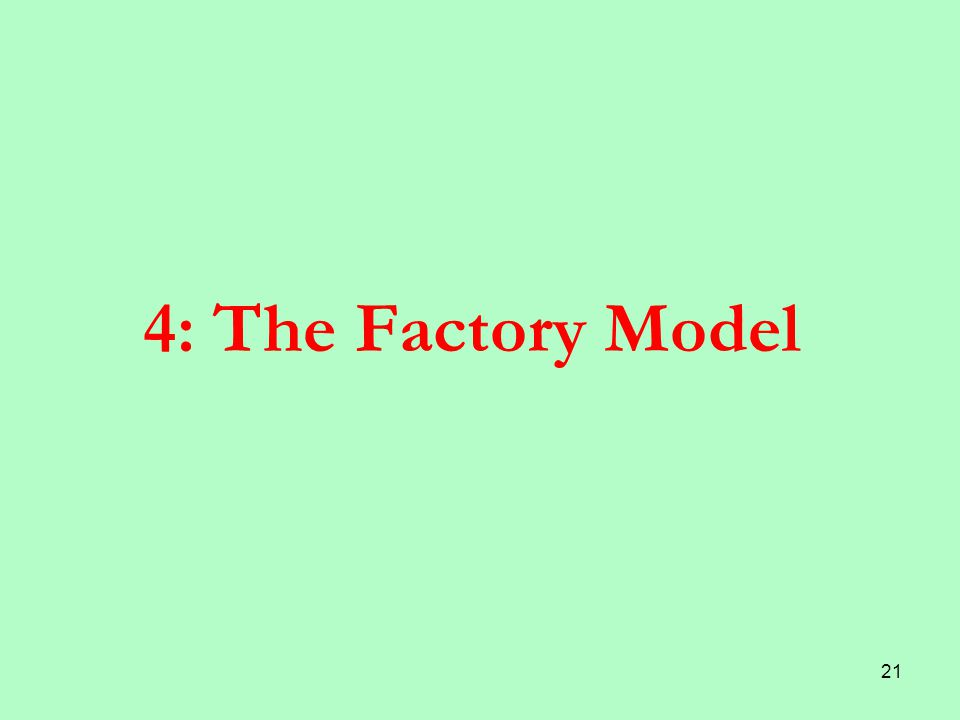 21 4: The Factory Model