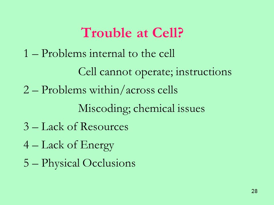 28 Trouble at Cell.