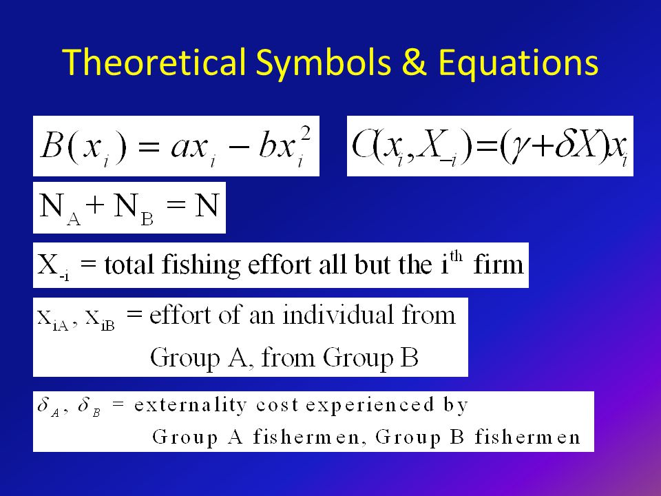Theoretical Symbols & Equations