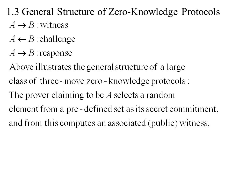 1.3 General Structure of Zero-Knowledge Protocols