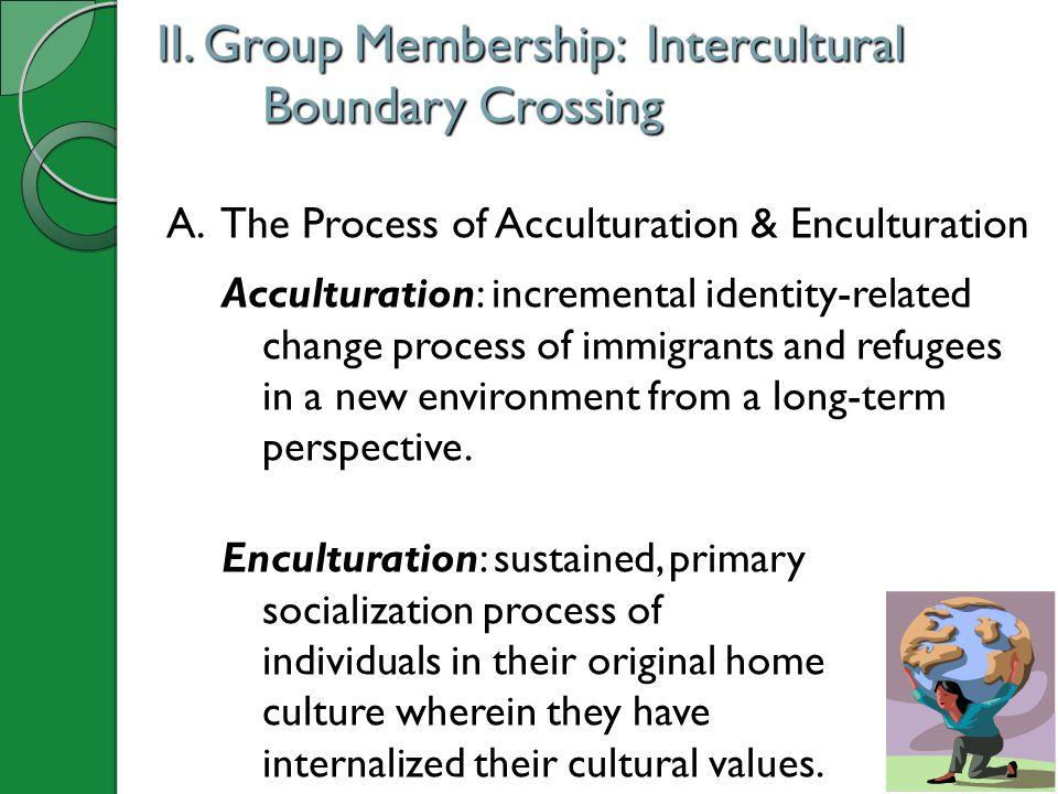 II.Group Membership: Intercultural Boundary Crossing A.