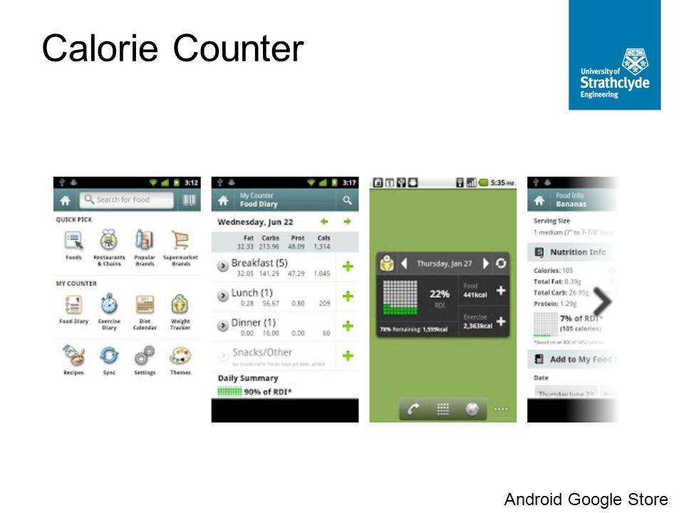 Calorie Counter Android Google Store