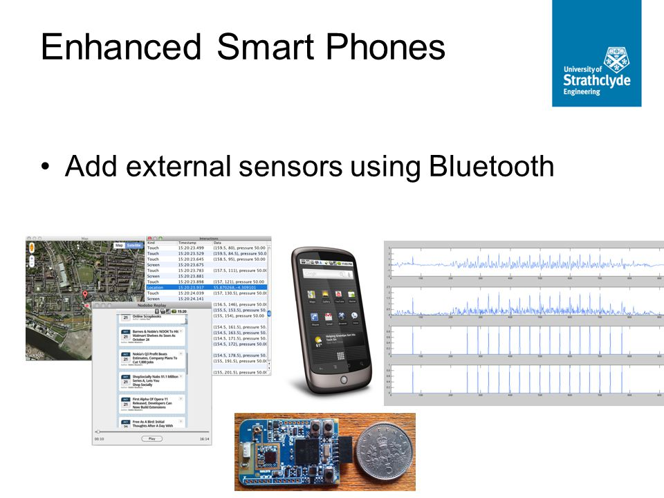 Enhanced Smart Phones Add external sensors using Bluetooth