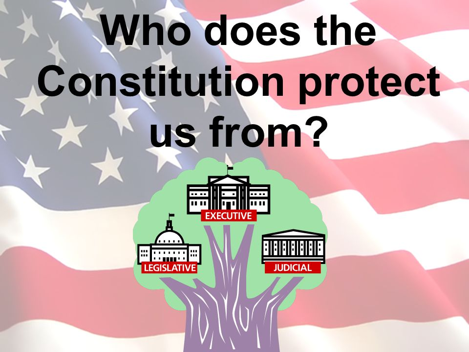 Who does the Constitution protect us from?