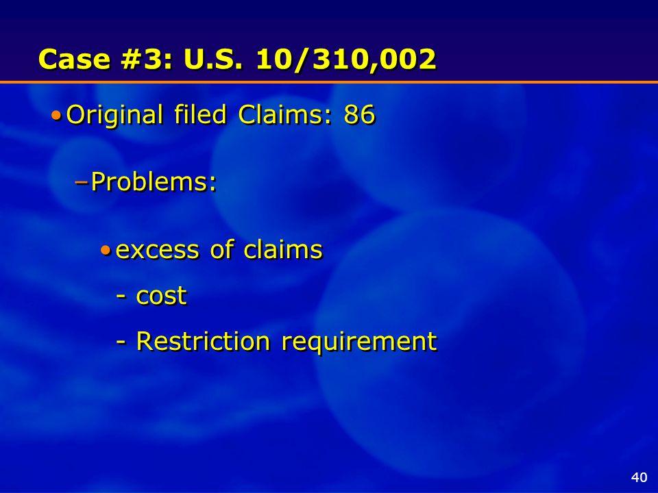 Case #3: U.S.
