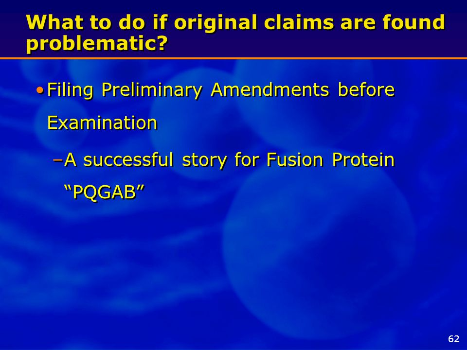 What to do if original claims are found problematic.